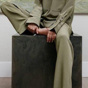 Catherine Regehr Designer Silk Pull On Pants, 6